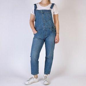 Levi's L Large denim Overalls jean blue cotton